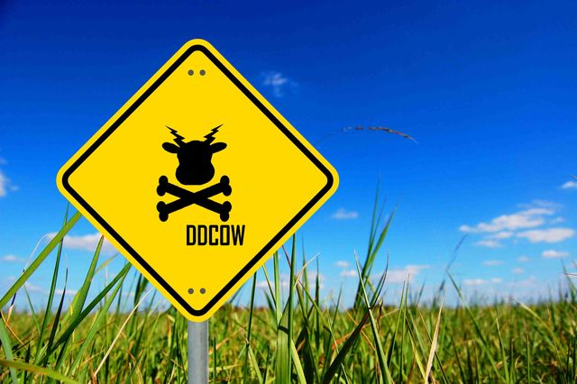 DDCOW road sign