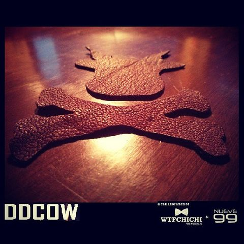 DDCOW on leather